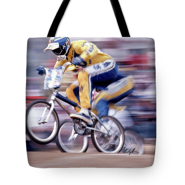 The Human Dragster, Tommy Brackens 1985 Tote Bag
