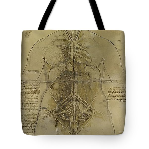 The Human Organ System Tote Bag by James Christopher Hill