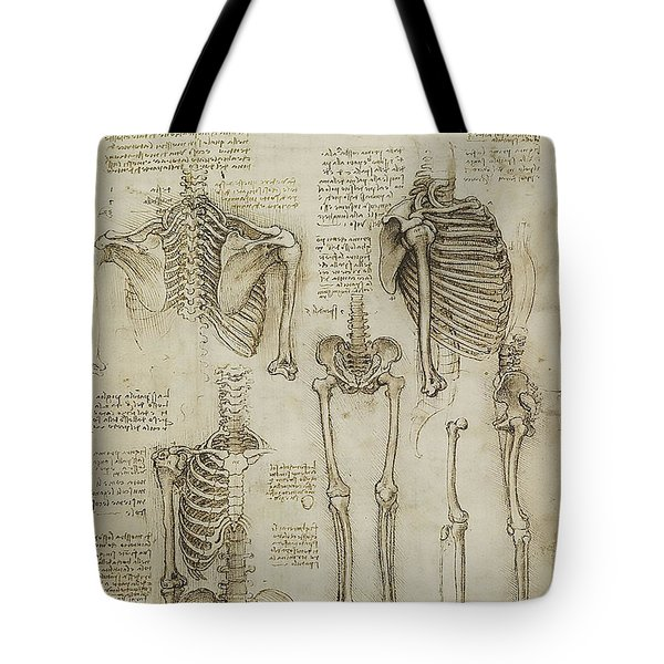 The Human Ribcage Tote Bag by James Christopher Hill