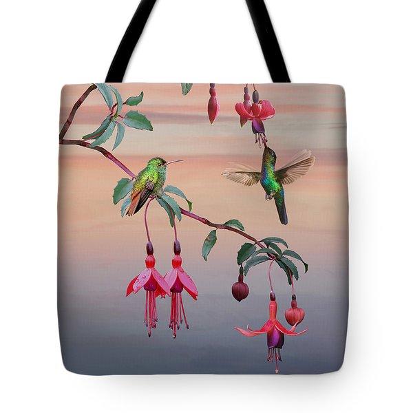 The Hummingbird Fuchsia Tote Bag