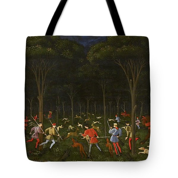 The Hunt In The Forest Tote Bag