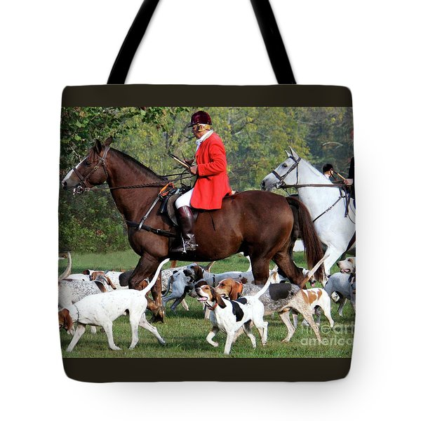 Tote Bag featuring the photograph The Hunt Is On by Polly Peacock