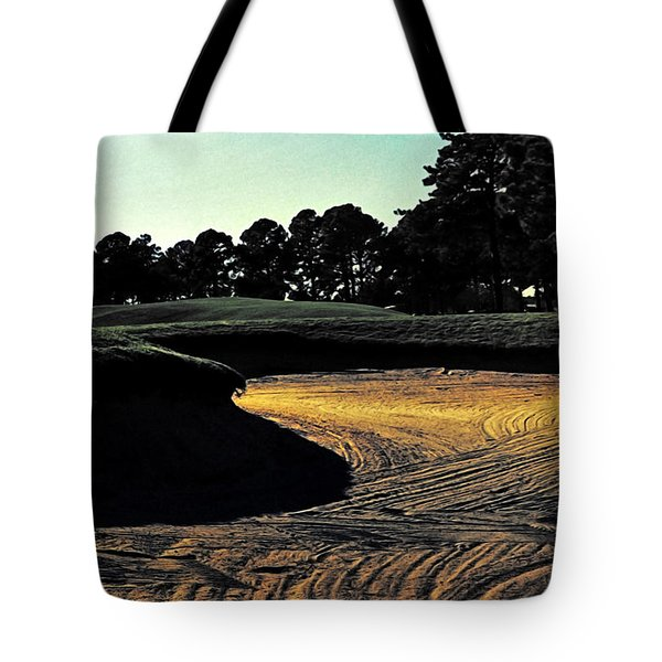 The Hustle And Bustle Has Come To An End On The Golf Course Tote Bag