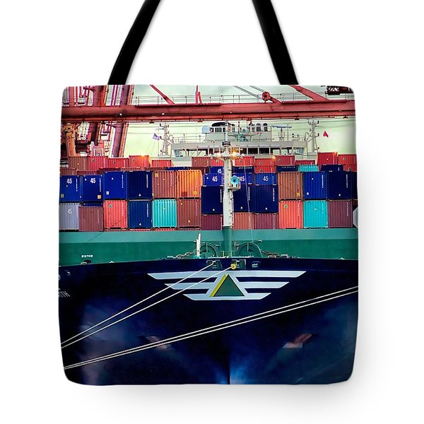 Tote Bag featuring the photograph The Hyundai Faith Seattle Washington by Michael Rogers