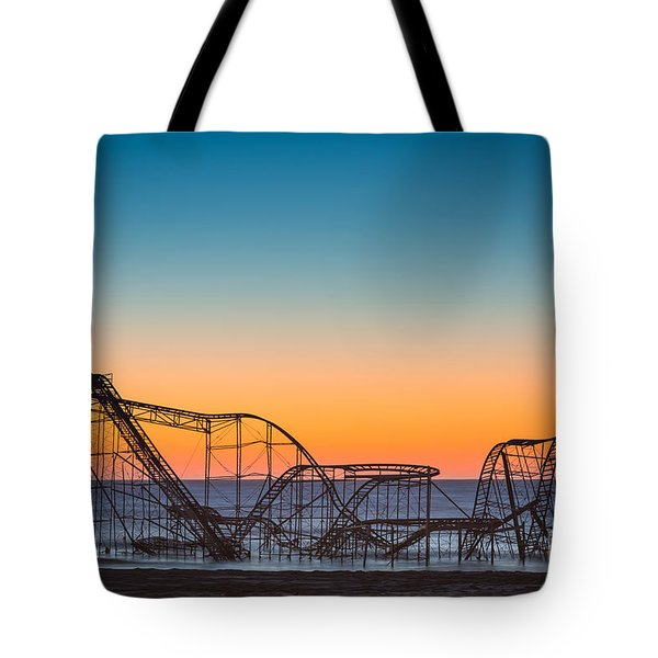 The Iconic Star Jet Roller Coaster Tote Bag by Michael Ver Sprill