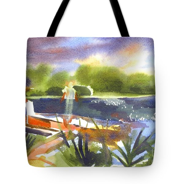 The Ideal Catch Tote Bag by Kip DeVore