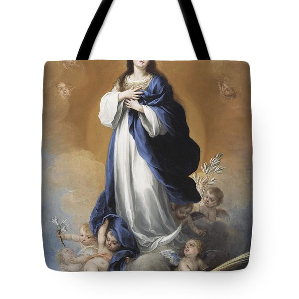 The Immaculate Conception  Tote Bag by Bartolome Esteban Murillo