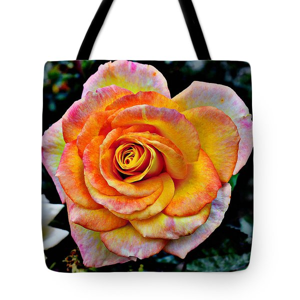 Tote Bag featuring the mixed media The Imperfect Rose by Glenn McCarthy