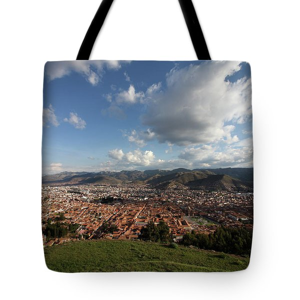 Tote Bag featuring the photograph The Inca Capital Of Cusco by Aidan Moran