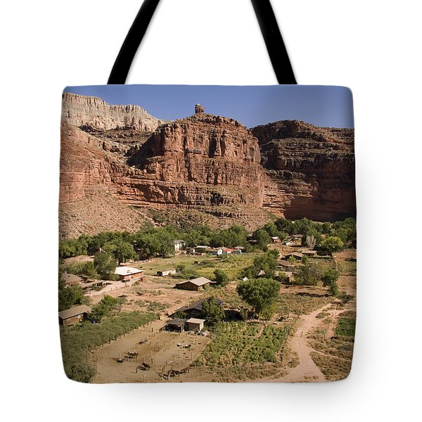 The Indian Village Of Supai Sits Tote Bag
