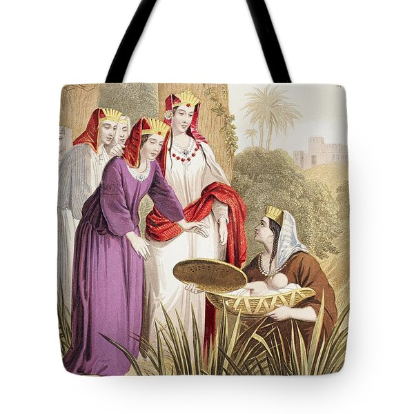 The Infant Moses Is Found In The Tote Bag