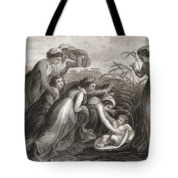The Infant Moses Is Found Tote Bag
