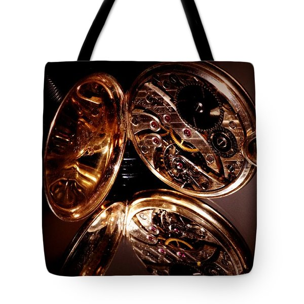 The Inner Working Of Clock Tote Bag