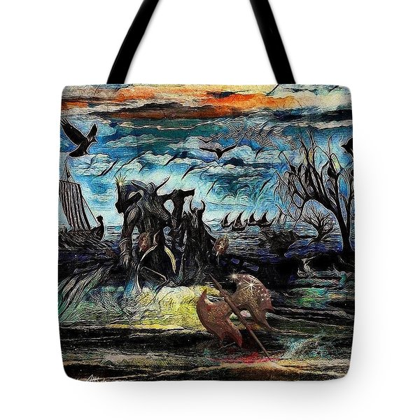 The Insurperable Guard Of The Land Of Danes And Brave Vikings Tote Bag