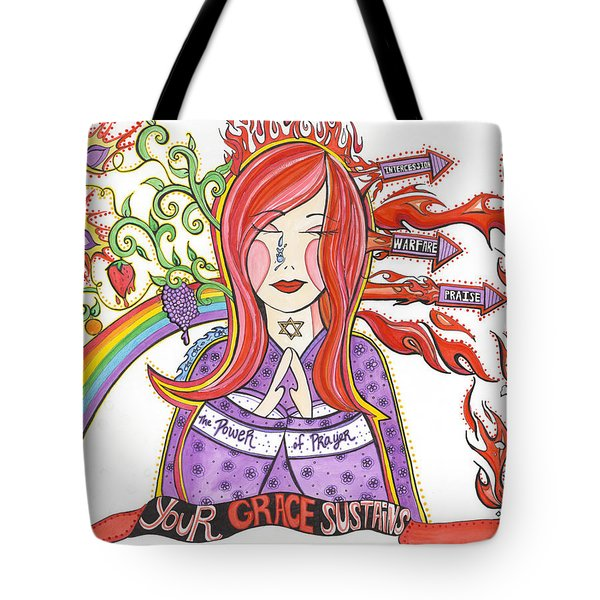 The Intercessor Tote Bag by Amber Hadden