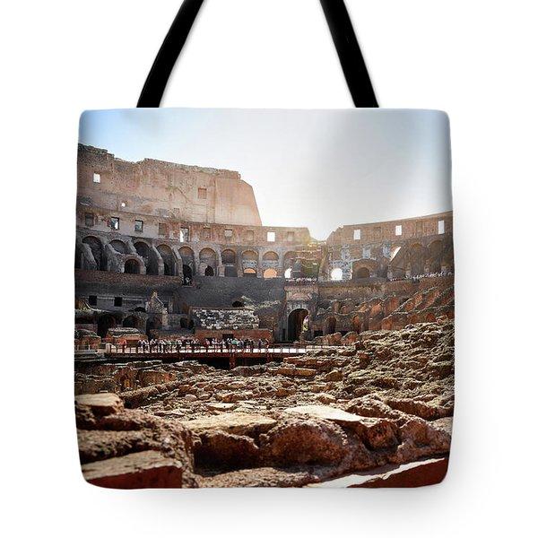The Interior Of The Roman Coliseum Tote Bag