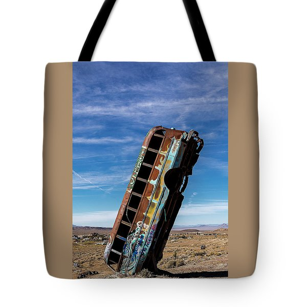 Tote Bag featuring the photograph The International Car Forest Of The Last Church 2 by James Sage