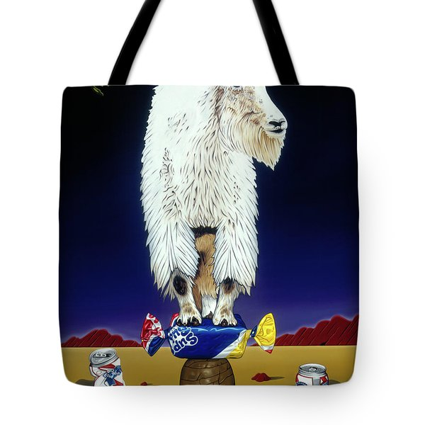 The Intoxicated Mountain Goat Tote Bag