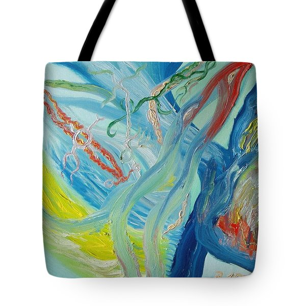 The Invisible World Tote Bag