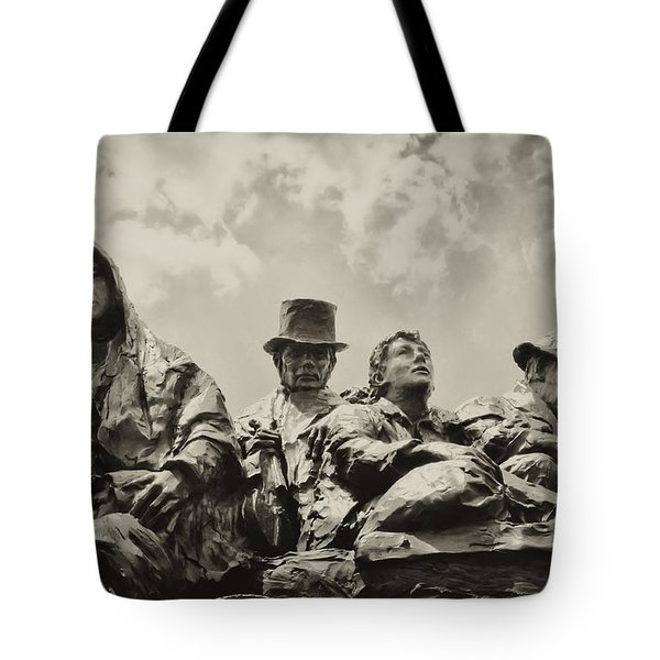 The Irish Emigration Tote Bag by Bill Cannon