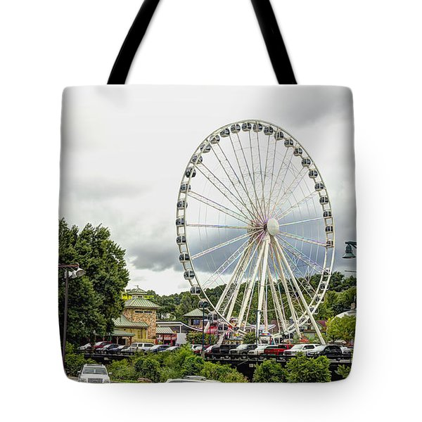The Island Smoky Mountain Wheel Tote Bag