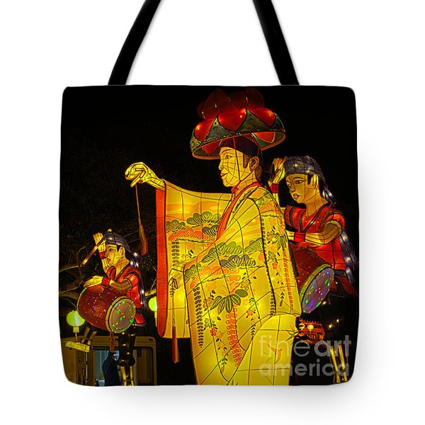 The Japanese Lantern Dancers Tote Bag