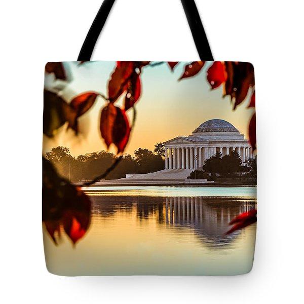 Jefferson In Autumn Tote Bag