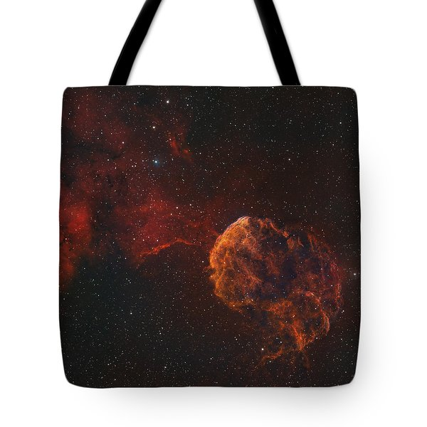 The Jellyfish Nebula Tote Bag by Rolf Geissinger