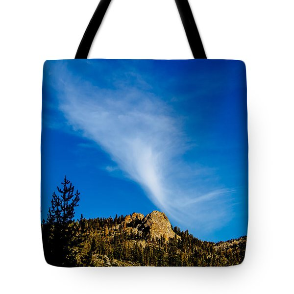 The Jet Strean Up At 10000 Ft Tote Bag by Brian Williamson