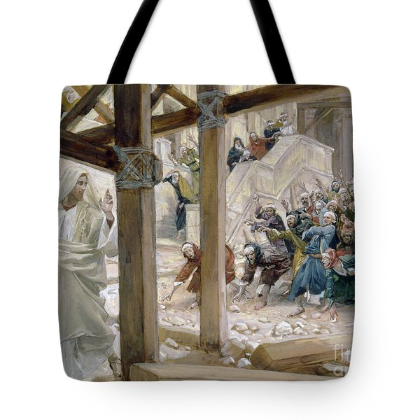 The Jews Took Up Stones To Cast At Him Tote Bag by Tissot