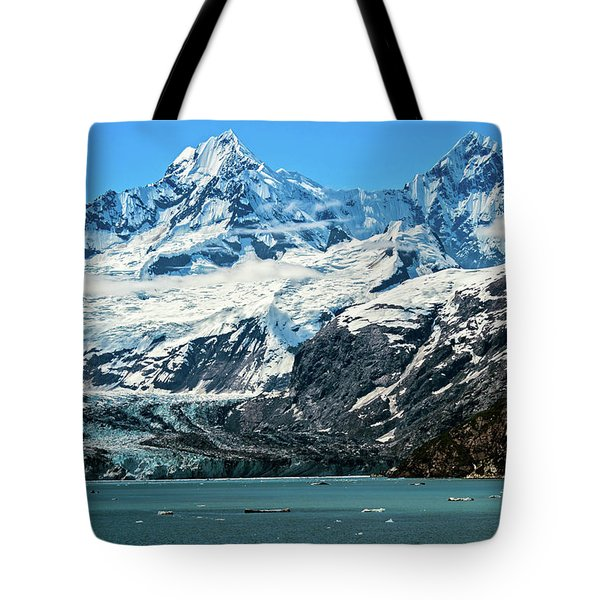 Tote Bag featuring the photograph The John Hopkins Glacier by John Hight