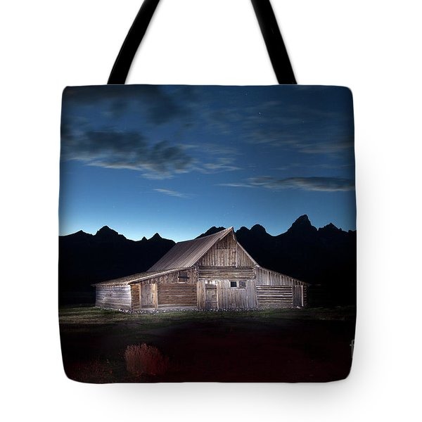 The John Moulton Barn On Mormon Row At The Base Of The Grand Tetons Wyoming Tote Bag