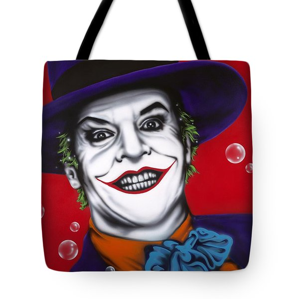 The Joker Tote Bag by Alicia Hayes
