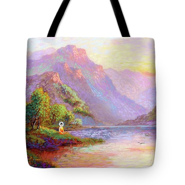 The Joy Of Being Buddha Meditation Tote Bag