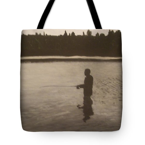Tote Bag featuring the painting The Joy Of Fishing. by Betty-Anne McDonald