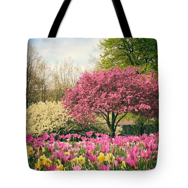 Tote Bag featuring the photograph The Joy Of Tulips by Jessica Jenney