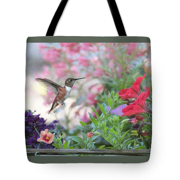 The Joys Of A Flower Garden Tote Bag by Angie Vogel