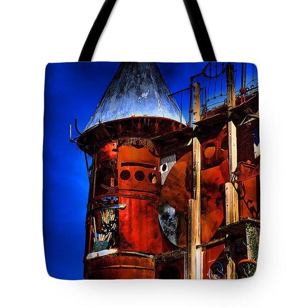 The Junk Castle Tote Bag by David Patterson