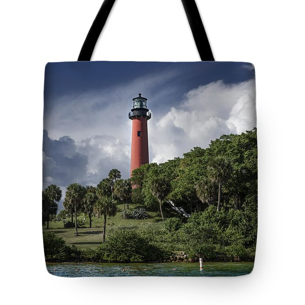 The Jupiter Inlet Lighthouse Tote Bag by Laura Fasulo