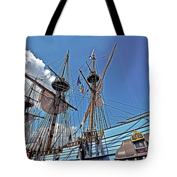 Tote Bag featuring the photograph The Kalmar Nyckel - Delaware by Brendan Reals