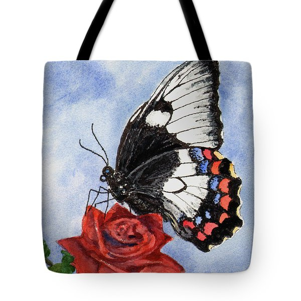 Tote Bag featuring the painting The Keeper Of The Rose by Sam Sidders