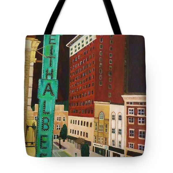The Keith Albee Theater Tote Bag by Christy Saunders Church