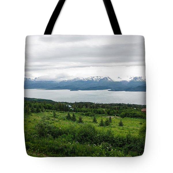 The Kenai Mountains In Homer Tote Bag