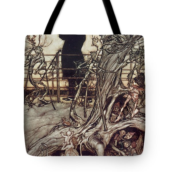 The Kensington Gardens Are In London Where The King Lives Tote Bag by Arthur Rackham