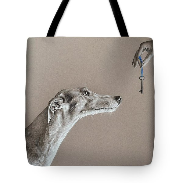 The Key Of Sincerity Tote Bag by Elena Kolotusha