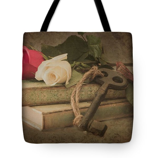 Tote Bag featuring the photograph The Key To My Heart by Teresa Wilson