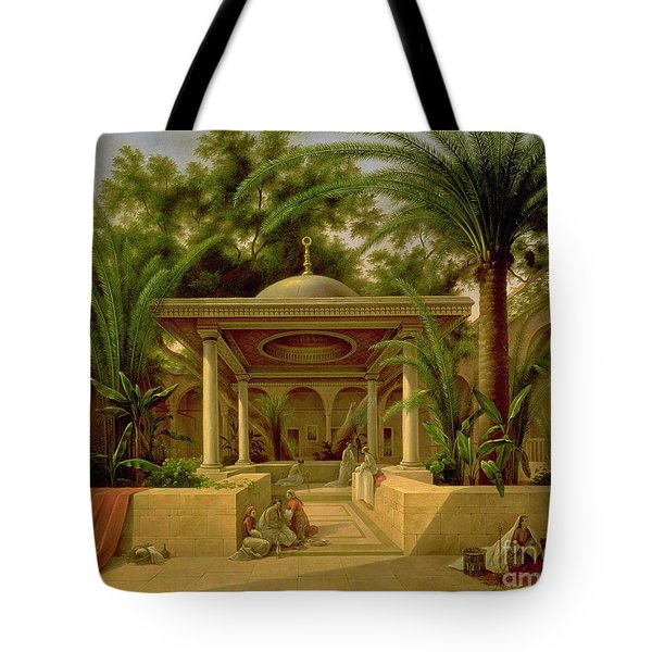 The Khabanija Fountain In Cairo Tote Bag by Grigory Tchernezov