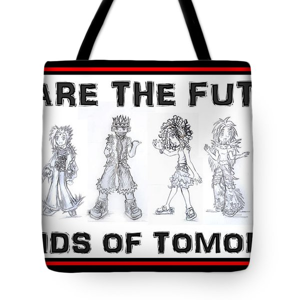 Tote Bag featuring the drawing The Kids Of Tomorrow 1 by Shawn Dall