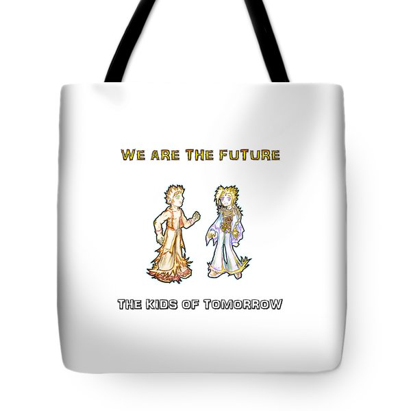 Tote Bag featuring the digital art The Kids Of Tomorrow Corie And Albert by Shawn Dall