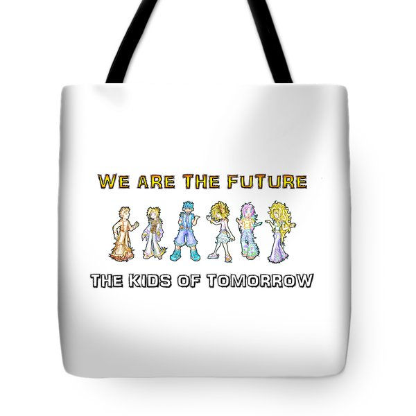 Tote Bag featuring the digital art The Kids Of Tomorrow by Shawn Dall